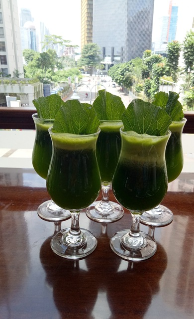 Green Rasuna -  Signature healthy drink consists of mixed of mustard, pineapple and lime juice.