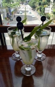 The Poppy Perfect combination of lime juice with pandan leaves and lemongrass and soda water.